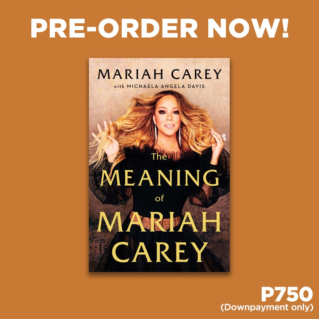 Calling all #Lambs - PRE-ORDER The Meaning of Mariah Carey from NBS today with a downpayment of only P750.  Pre-order here: .   #TheMeaningOfMariahCarey #MariahCarey #Lambily #NBSNewReads #NBSeveryday
