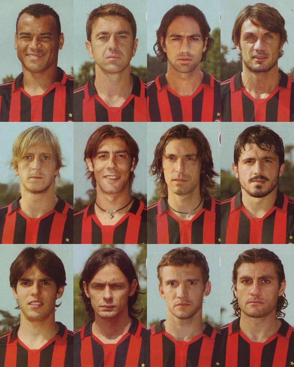 Milan 2005/06  #FootballMemories #MilanBologna #Cafu #Nesta #Maldini #Ambrosini #RuiCosta #Pirlo #Gattuso #Kaka #Inzaghi #Shevchenko #Vieri #Milan #ThisisMilan #SempreMilan #ACMilan #paolomaldini #andreapirlo #seriea #operazionenostalgia https://t.co/lZrpmGmhDe
