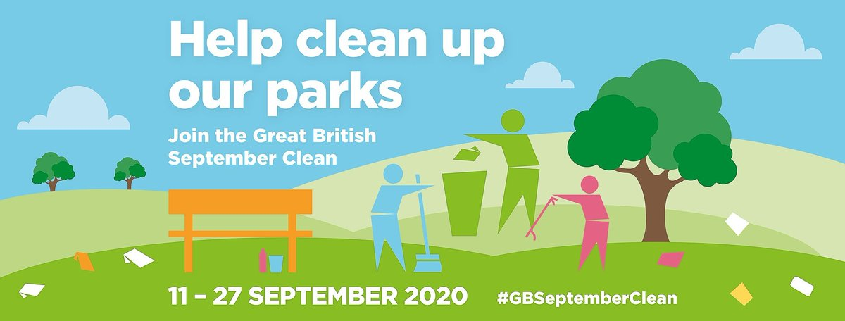 Keep your local park clean and tidy. Be part of the pick! Join the #GBSeptemberClean 2020. https://t.co/sl76OFlDvt