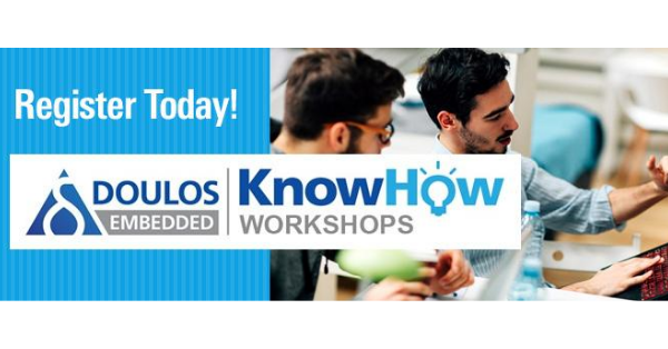 Signed up for Doulos Embedded KnowHow Live Online Workshop? Join us on Sep 22 (EurAsia) / Sep 23 (AM) for a full day of live online workshops with expert training, real-life case studies, and practical hands-on exercises – https://t.co/9PqyykHwo5 https://t.co/XV6su2w3kI