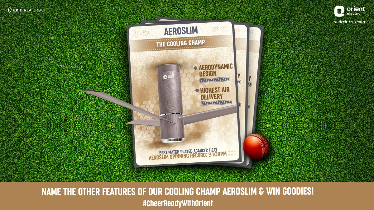 #ContestAlert A spinner you've got to add to your home team. Let's give a record breaking cheer for our champ. Cheer for Aeroslim in the comments below by naming some of the other features of our cooling champ to win exciting goodies. T&C Apply- https://t.co/jEjmcyxPe5 https://t.co/6CGwAeUvw0
