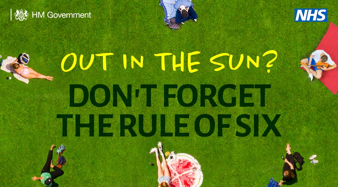 Don't forget the rule of 6. Avoid large crowds this weekend. gov.uk/government/pub…