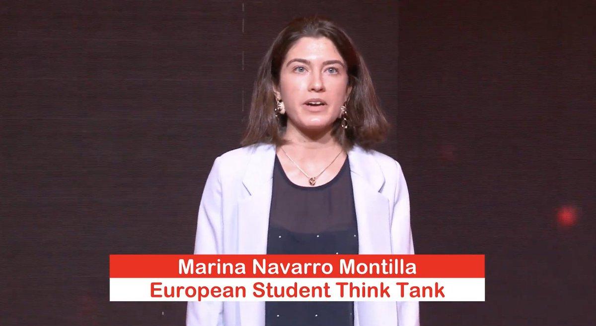 Marina Navarro, de 22 años, presidenta de la organización @ESThinktank, para incorporar más a los jóvenes de toda Europa en los procesos de toma de decisiones y en fortalecer la democracia participa también en #GIRAJóvenes #ImpulsaElCambio CC @CocaColaEP_es @CocaColaCo_es https://t.co/lsGs71j9vU