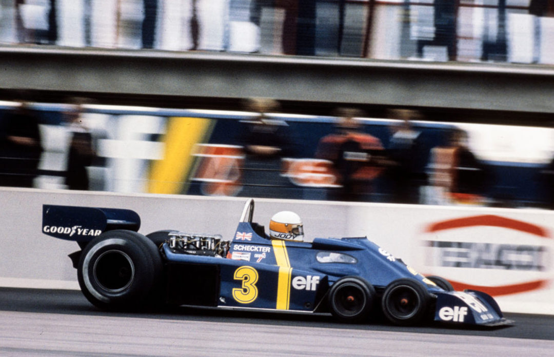 You wouldn't thank me for not posting a pic of Derek Gardner's astonishing 6-wheeled Tyrrell P34, so here's Jody Scheckter en route to #SwedishGP victory at Anderstorp in '76. (2/2) https://t.co/DTiS1B3TqG