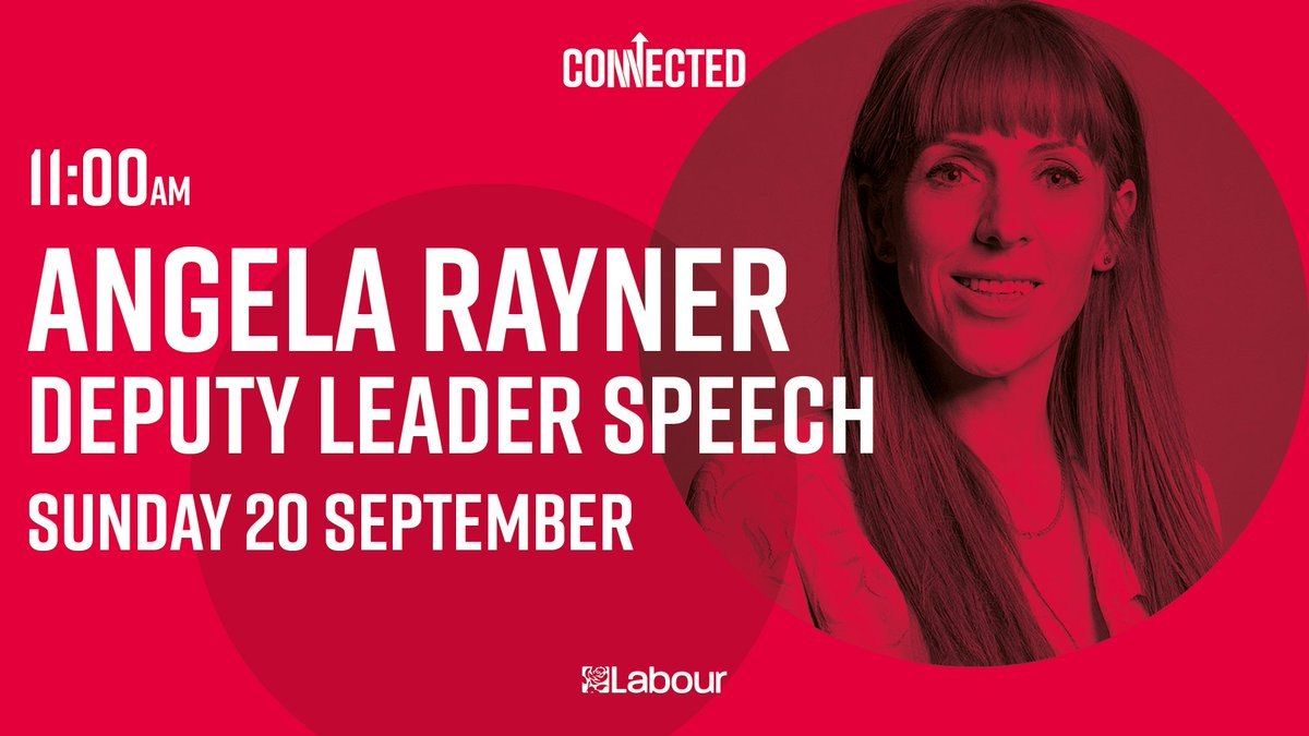 We'll be going live on Twitter in 30 minutes for @AngelaRayner's keynote speech at #Lab2020. Tune in 🌹