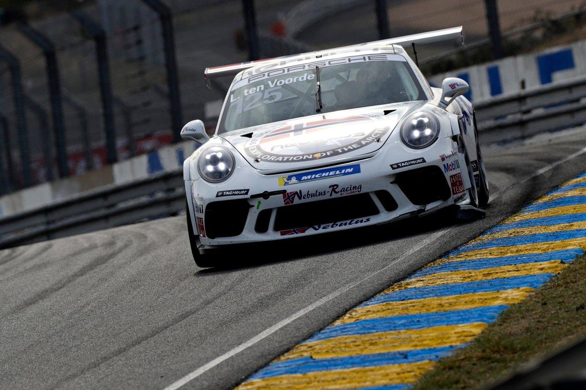 That's what we call a podium! 🥇Larry ten Voorde🥈Leon Köhler and🥉Ayhancan Güven. Spectacular race and a fantastic lineup from Porsche Carrera Cup Le Mans! Merci à tous, au revoir et on se revoit au tour du Mans! 👏 🇫🇷 #PorscheCustomerRacing #CarreraCupDe https://t.co/VlBJ1XhnrV
