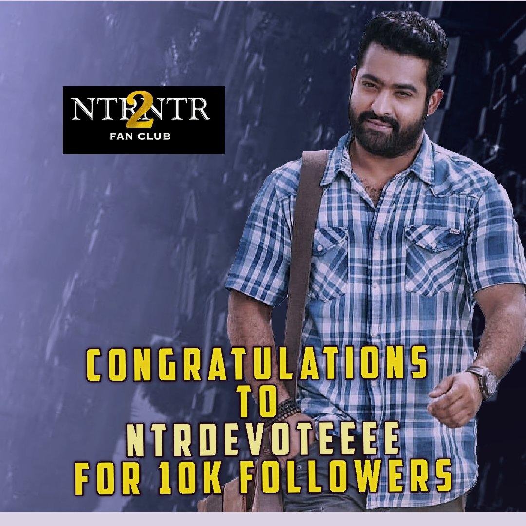 Congratulations @NTRDEVOTEEEE bro FOR 10K Followers @tarak9999   #JrNTR   #Tarakians   #KomaramBheemNTR   #RRRMovie  #NTR   #NTR2NTR_FansClub   https://t.co/MAwQ7rvOIY