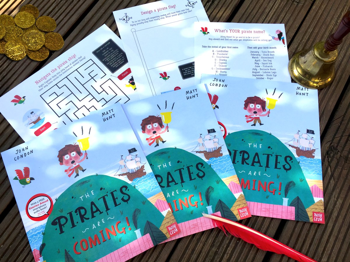 Yaaar, it be #TalkLikeAPirateDay, so Im giving away THREE signed copies of me book, plus activity sheets. Do me a drawing of your favourite character from the story and Ill pick three winners on Sunday 27/09/20. Share this post too, me hearties, if you be so kind. 🏴☠️🦜⚓️