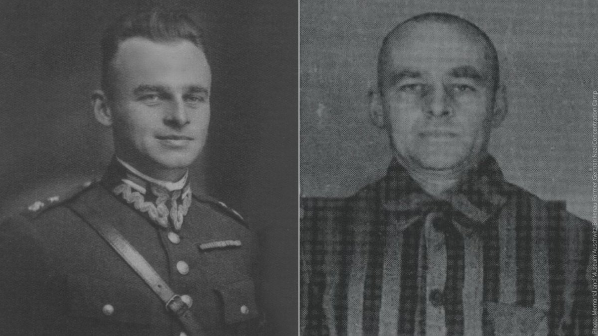 #OTD in 1940, 🇵🇱 officer Witold #Pilecki deliberately had himself arrested in a street round up in German-occupied #Warsaw. Sent to #Auschwitz, he managed to gather evidence of the crimes committed there, and smuggle it out. Pilecki was the only known #Auschwitz volunteer.