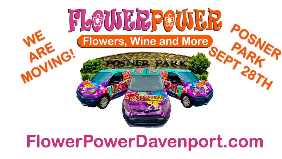 One Week left at our current location... Can't wait to see you soon in Posner Park! #Flowers #FlowerPower #FlowerPowerDavenport #Florist #Moving #PosnerPark https://t.co/t3JlHjdx3l