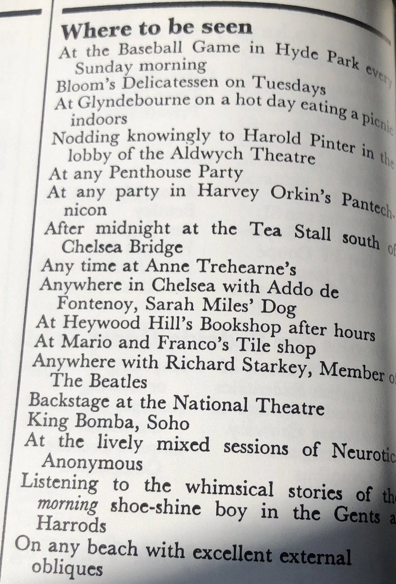 Where to be seen and not seen, from Queen, 1965