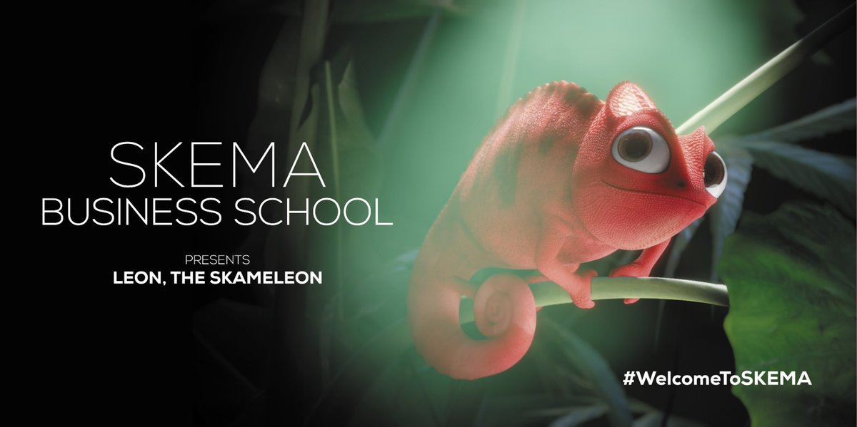 [YOU MAY HAVE MISSED] Leon the SKAMELEON, #SKEMA's new mascot conceptualised 'by our students, for the students' was introduced to everyone this week. He will represent all 7 campuses of the school. Follow his adventures with #LeonTheSKAMELEON. https://t.co/YVm9x8ARyX #WeAreSKEMA https://t.co/Fd9XcDDvPx