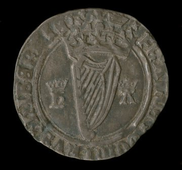 A continuity: Henry VIII adopted the harp as a symbol of the Kingdom of #Ireland in 1541 - it is still used in Ireland's Euro coins. https://t.co/koxDZWUi15