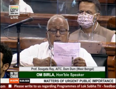 The situation in #JammuAndKashmir , even after one year of abrogation of #Article370 , is causing concern. We demand the release of all 230 political leaders who are still in detention in J&K: TMC MP Saugata Ray in Lok Sabha https://t.co/o9u0jsttRs
