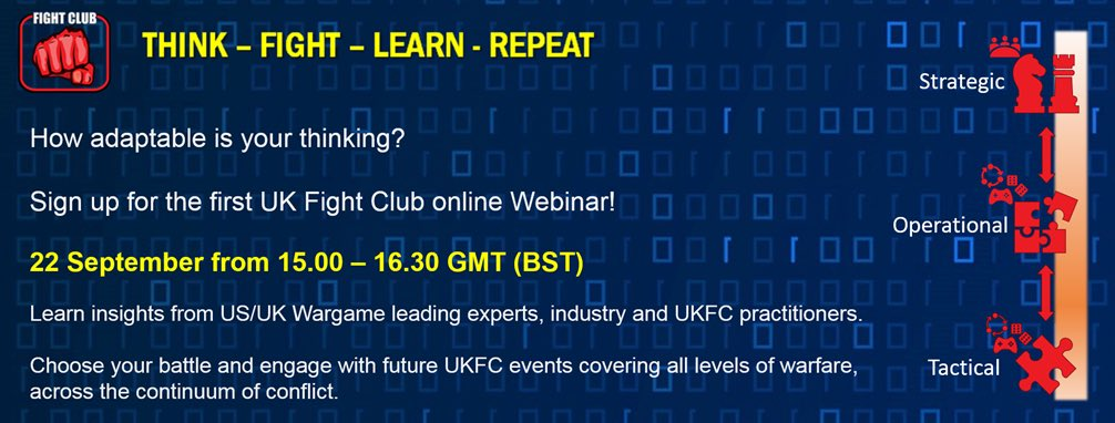 @UKFightClub1 is honoured to host RAND defense analyst and former US Marine @SebastianBae, at our webinar. He will provide us with a truly thought provoking keynote and challenge us to face our greatest fears. Join UKFC here: bit.ly/JoinUKFC and sign up for the webinar.