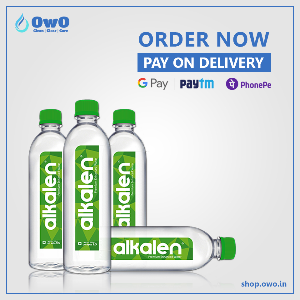 Order Alkalen - the next gen water for your drinking water needs, on OwO! Pay on delivery.   #onlinewaterdelivery #alkalen #owoindia #deliveryserivce #owoapp #deliveryingurgaon #smartwater #drinkingwater #purewater #mineralwater #water #alkalinewater #alkaline #evocush20 https://t.co/M8pCEHzYbj