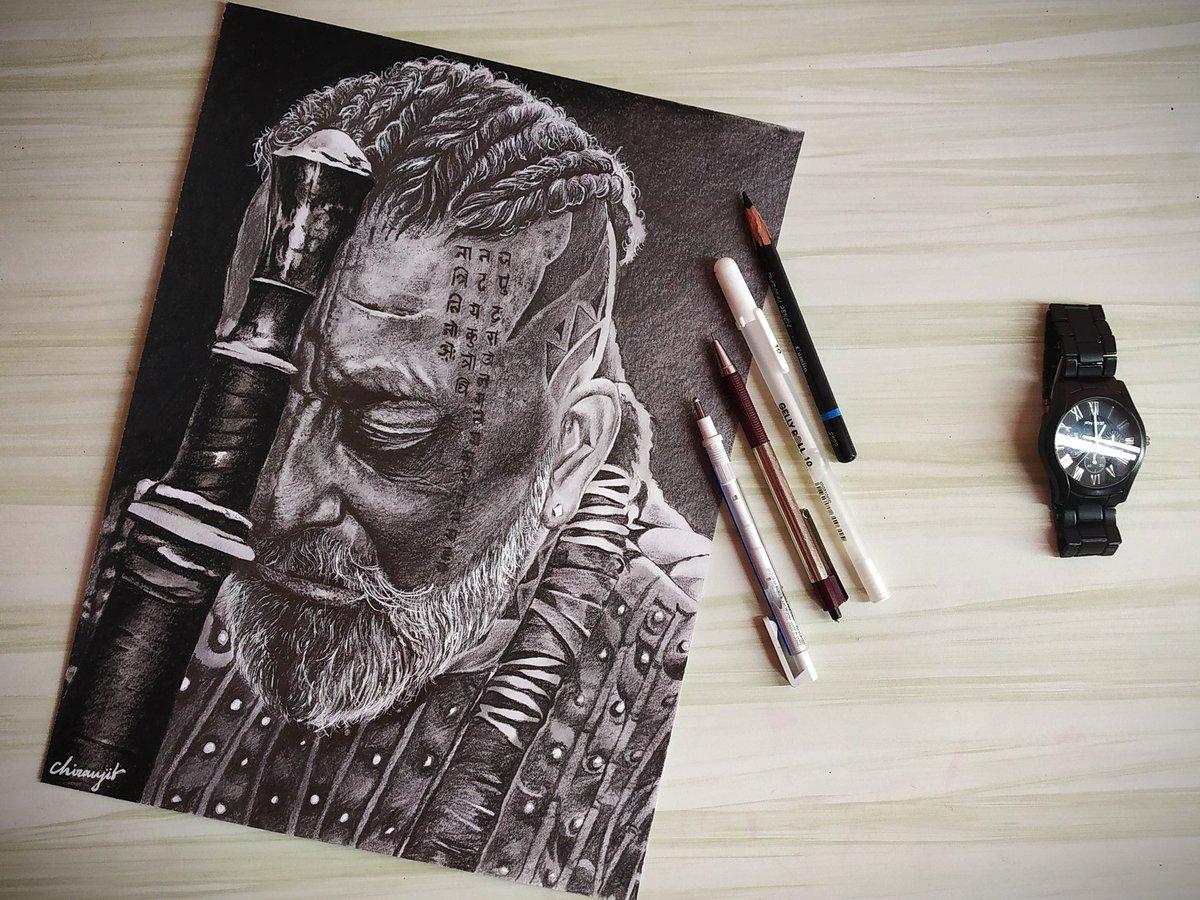#KGF2  #kgfchafter2  #kgf_chapter_2_sketch_drawing #sanjaydutt #PrashanthNeel https://t.co/P3tzfXaOGg