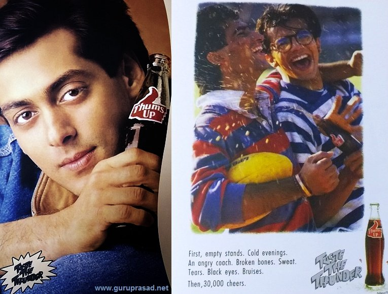 In response to Pepsi's ads, Thums up started a campaign : Taste the Thunder which might be the longest running campaign ever with stars like Salman Khan, Akshay Kumar, Ranveer Singh featured over the years  18/ https://t.co/t9HnZiS7No
