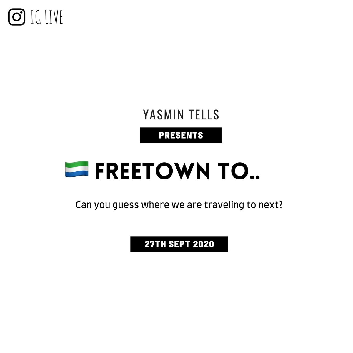 How dare I forget to share this with the Twitter fam!  Make your guess. Destination will be revealed tomorrow! #Freetownto #travelafrica #africancity #westafrica #yasmintells #africancontent https://t.co/49ZjXPXPct