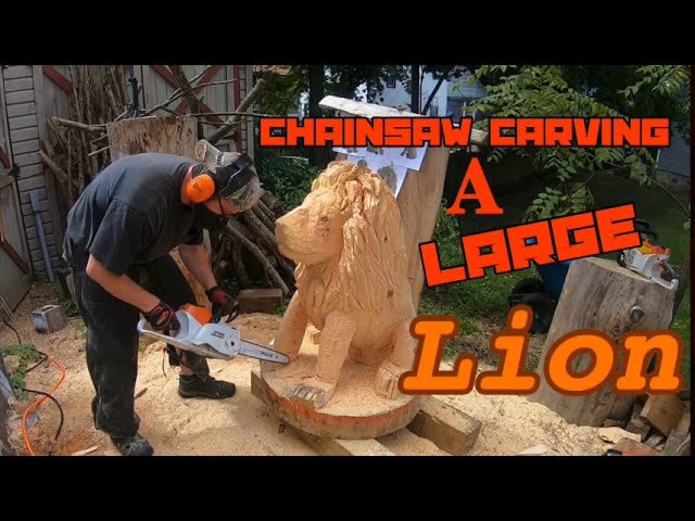 Chainsaw carving a large Lion ! https://t.co/VQbe2hRCsP via @YouTube #Lions #lionking #woodsculpting #chainsawcarving #art #ArtistOnTwitter #HappySaturday #SaturdayThoughts #SaturdayVibes #SaturdayMotivation #chainsaws https://t.co/uw4kSoqNqm