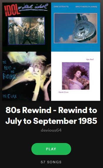 RT 80s_Rewind: Rewind 35 years to Jul-Sep 1985 https://t.co/F5nxZrrKPQ #80sMusic #EightiesRocked #SpotifyPlaylist @Spotify @spotifyartists https://t.co/KInu8opvPA #80s