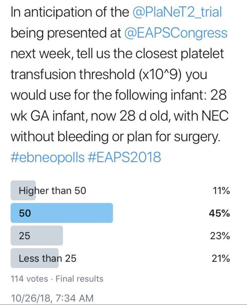 Here are the polls side by side, and a link to the original @PlaNeT2_trial manuscript in @NEJM: https://t.co/iUvgloV2MZ https://t.co/it1NzFsVcd
