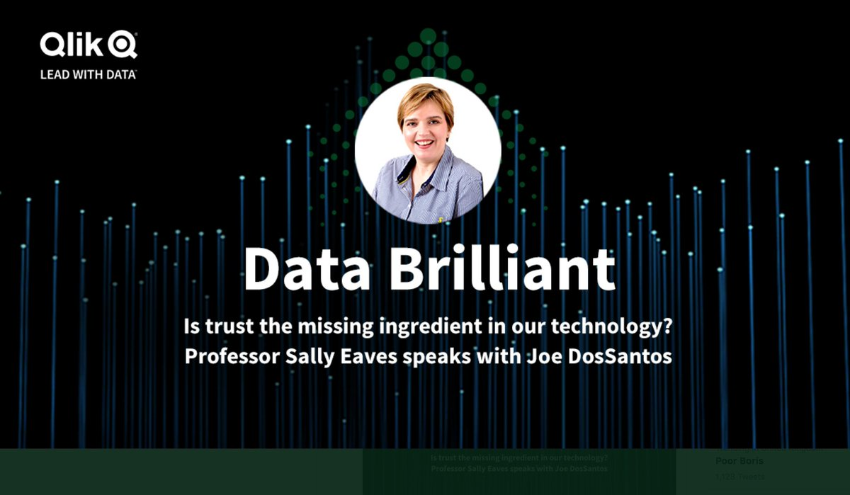 Some #SaturdayThoughts listening! New episode #DataBrilliant #podcast @qlik Loved speaking with @JoeDosSantos on why #data #trust #education #inclusion & #AIEthics go hand in hand 🤝https://t.co/FiFKMIqFXE #TechForGood #SaturdayVibes #tech #TechNews #100DaysOfCode #SDGs #Digital https://t.co/aPno1TpC79