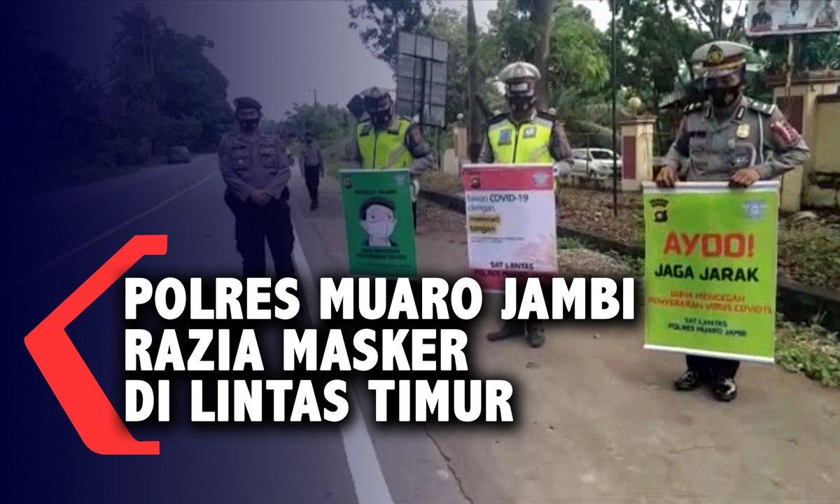 Polres Muaro Jambi Razia Masker https://t.co/YNW3GqSfq7 https://t.co/lhoy7xOdH6