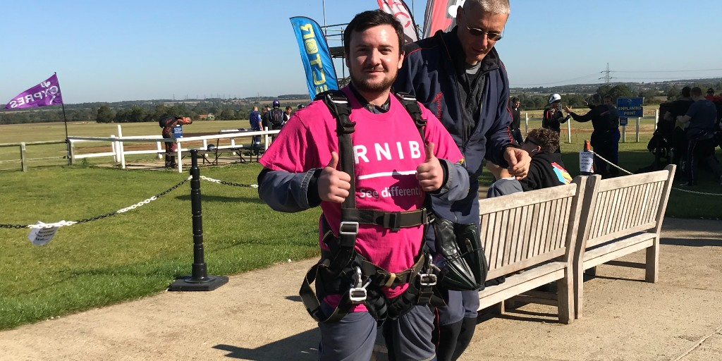 A huge thank you and well done to everyone who took part in our Big Jump skydive today!   We're so happy to have you on #TeamRNIB. https://t.co/j08DG1D6lQ