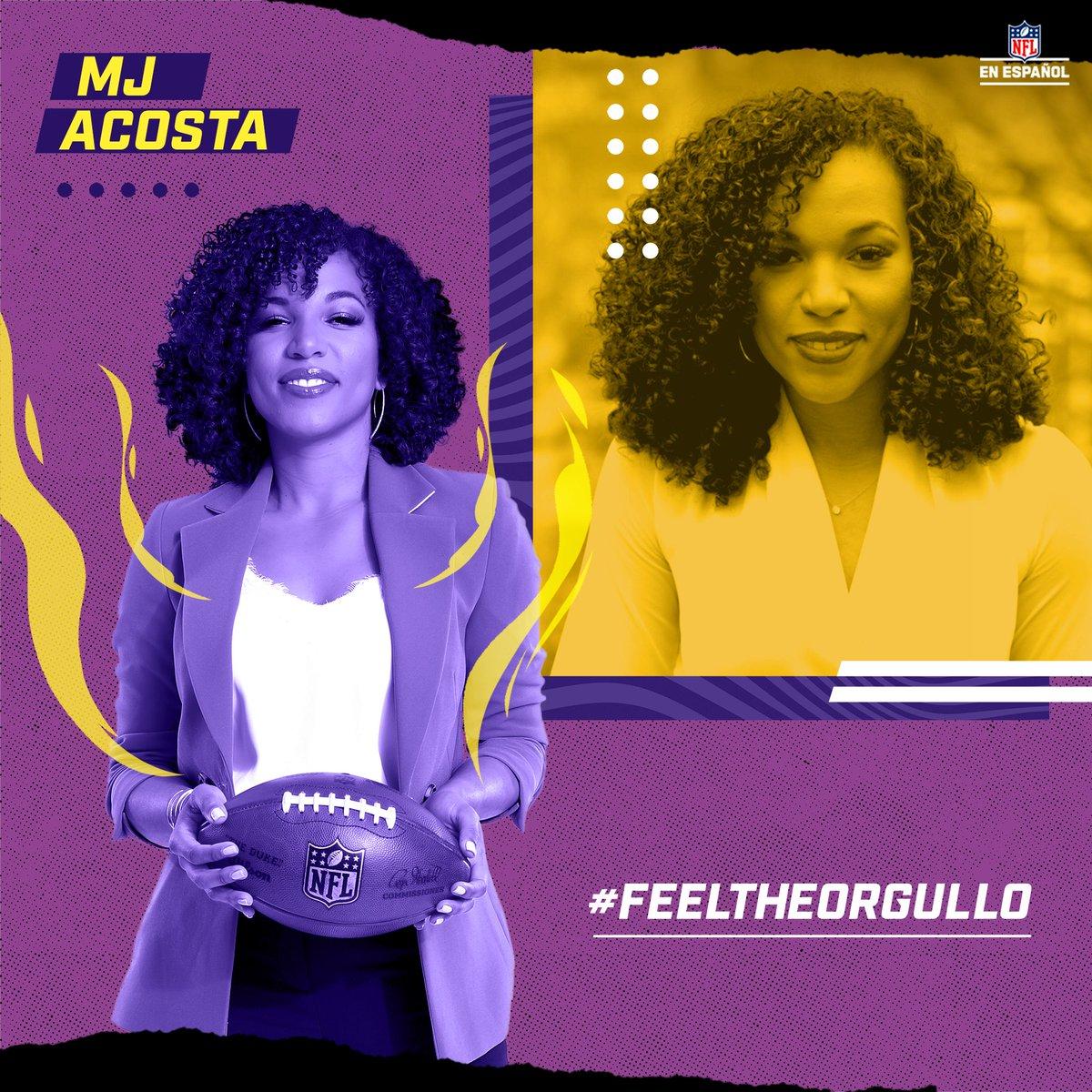 ¡Una mujer como ningún otra! 👏  Es la primera mujer afro-latina en ser presentadora de un show de NFL Network y tiene una carrera llena de éxitos, ¡@MJAcostaTV, una representante latina que nos llena de orgullo! 💁♀️🔝👏  #FeelTheOrgullo https://t.co/Irsff1N5A3