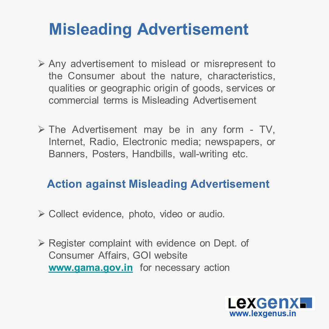 Consumer Rights - Misleading advertisements . . . #law #lexgenus #lexgenx #consumerism #consumer #consumerforum #consumerlaw #consumerprotection #consumerprotection https://t.co/DqGOsMRMAP