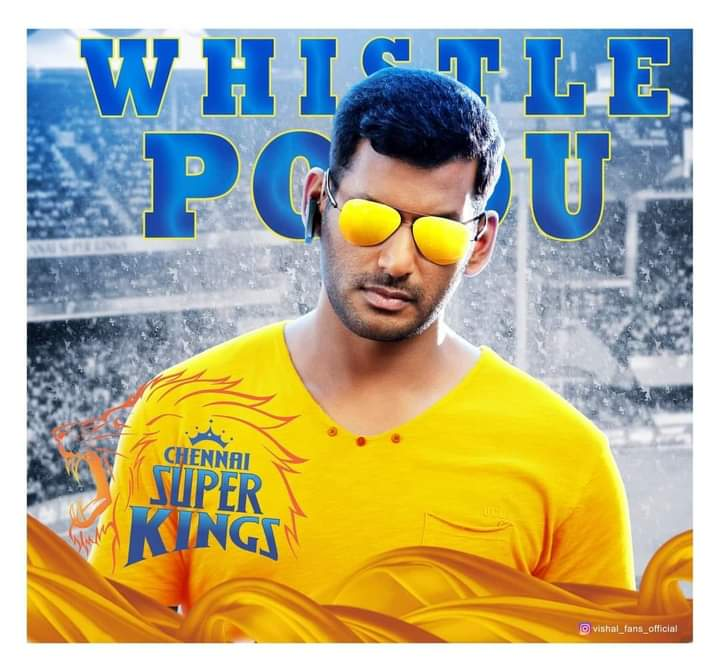 Best wishes to team @ChennaiIPL & @msdhoni on behalf of Actor @VishalKOfficial anna fans club #IPL #CSKvsMI #CSKயின்_கோட்டை_தமிழ்நாடு #IPL2020 #VISHAL     @HariKr_official https://t.co/73W2AJ9WFD