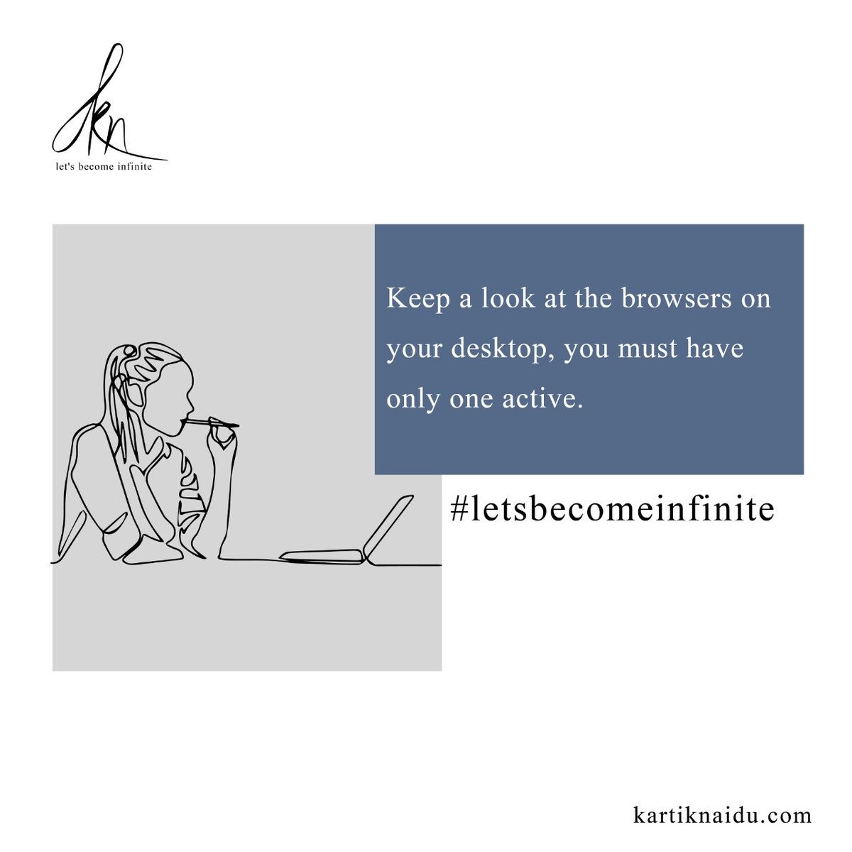 Control your distractions. Single tasking can be very effective. #letsbecomeinfinite  #productivity #motivation #business #success #entrepreneur #timemanagement #productivitytips #goals #smallbusiness #inspiration #studygram #covid #marketing #workfromhome https://t.co/ah2rhN8jax