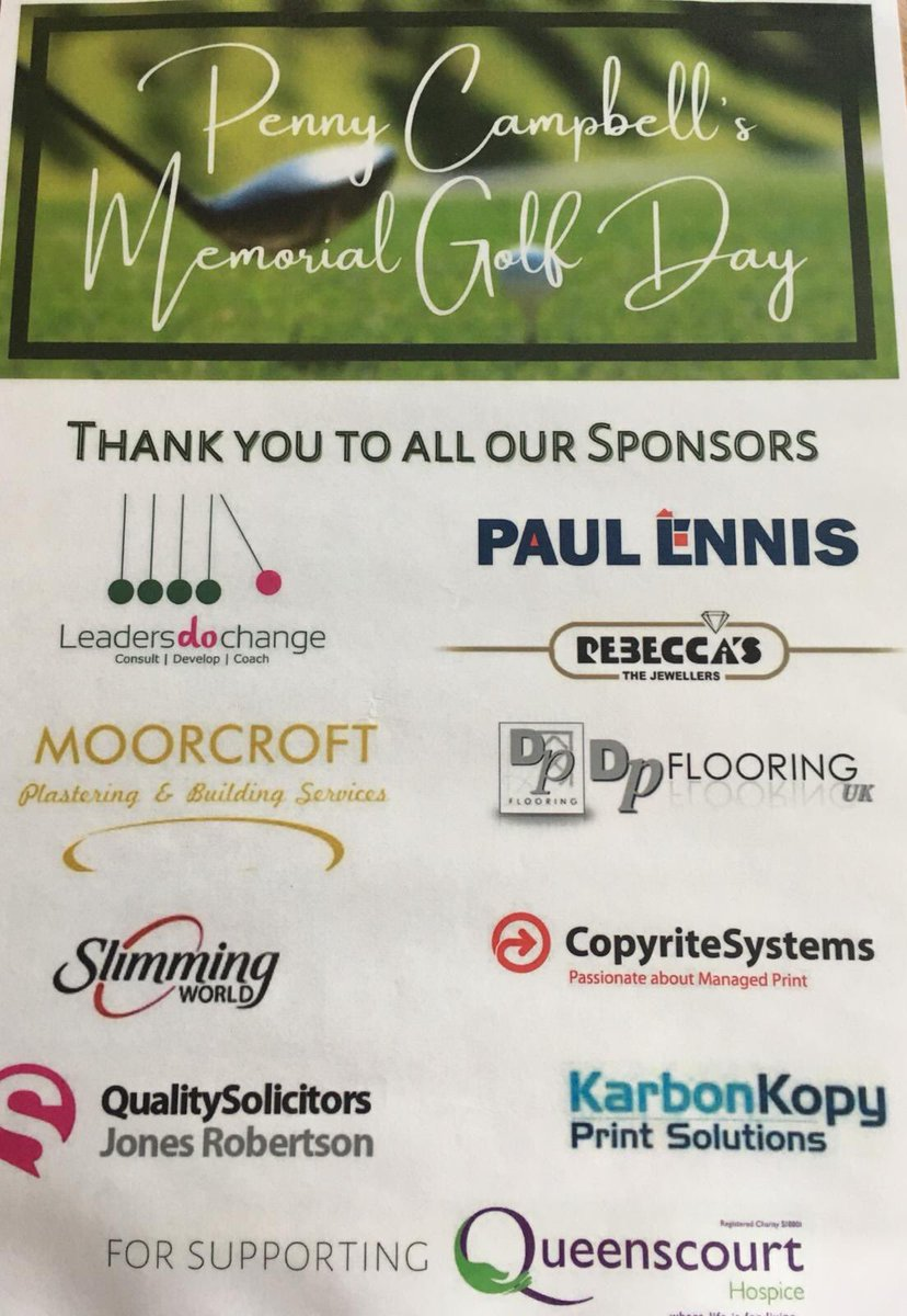 test Twitter Media - Paul Ennis are very happy to sponsor the 10th hole @SandAGolfClub to support @QCHospice yesterday at the Penny Campbell memorial golf day. Well done everybody! https://t.co/2E22MDtTYo
