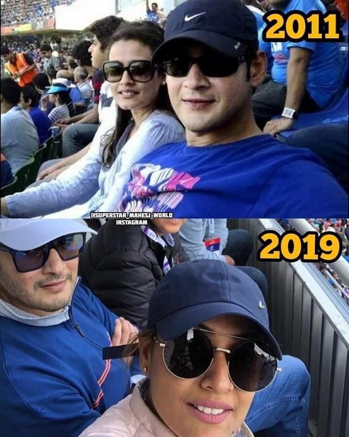 Cricket fever everywhere... Superstar @urstrulyMahesh a very big fan of Cricket..Our Gautam too ❤️🏏  #SarkaruVaariPaata #MIvCSK https://t.co/OScZG1dMjz