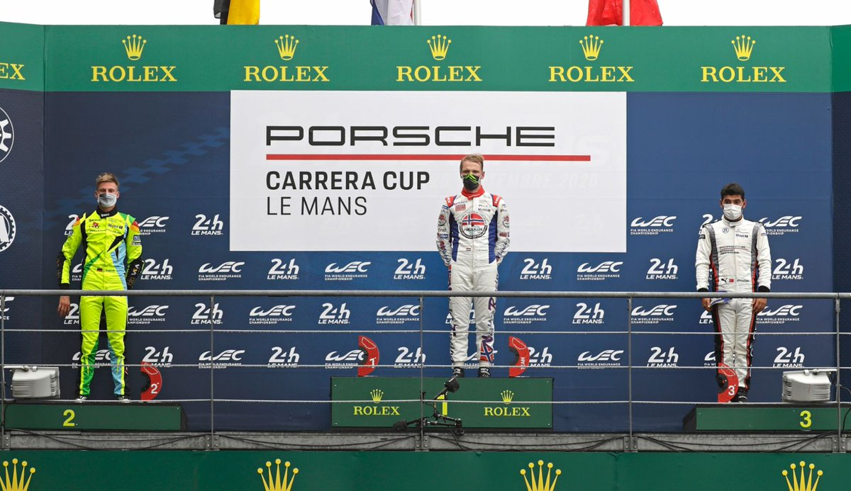 .@LarrytenVoorde has fulfilled a dream in the @CarreraCupDE: The Dutchman won the joint race of the #Porsche #CarreraCupDE and the Porsche Carrera Cup France on the storied Circuit des 24 Heures du Mans. The race at a glance: https://t.co/8RoDXXIIPM https://t.co/JYOBKPsN9R