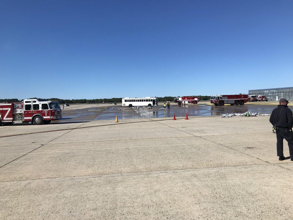 Emergency response drill in progress at Portsmouth International Airport. @portsmouthair @PortsChamber #ARFF @Allegiant https://t.co/qDmcLqyTlB