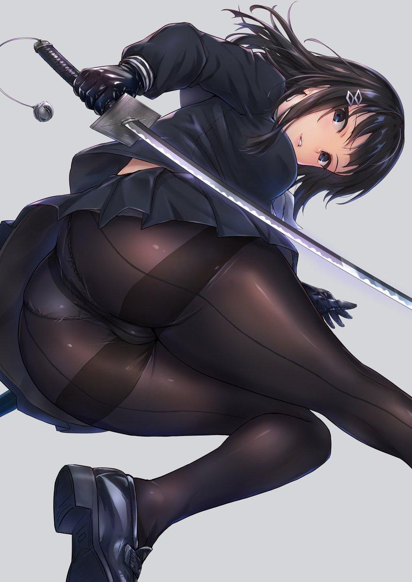 女子高生退魔士11 黒スト黒グローブ