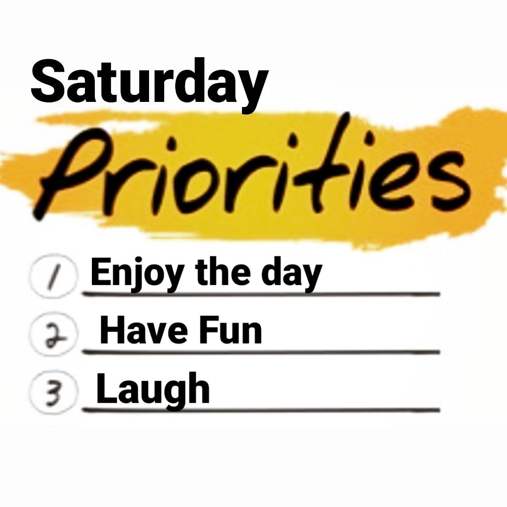 Happy Saturday!!! #HappySaturday #EnjoyTheDay #HaveFun #Laugh #LiveLife #EnjoyLife https://t.co/uEtrrPepnf