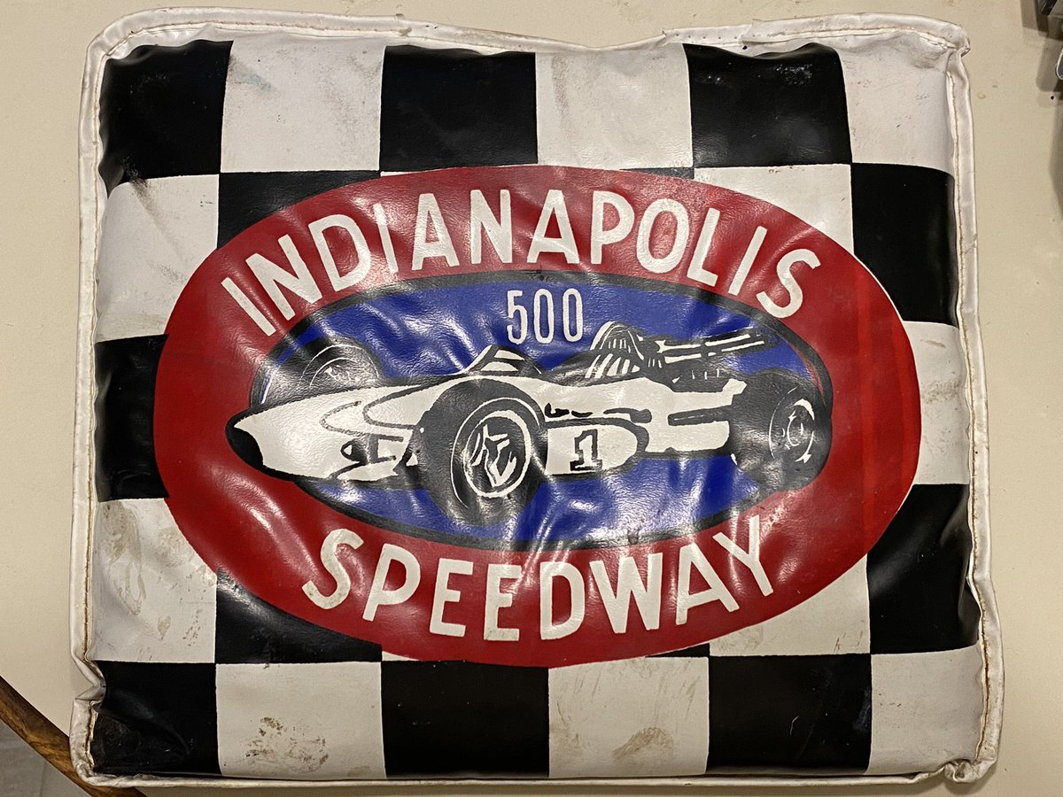 We've just started the process of cleaning out my mother's house. This seat cushion is one of the #Indy500 treasures we've found. Hopefully there will be more to uncover. https://t.co/j4V3Q0URWO