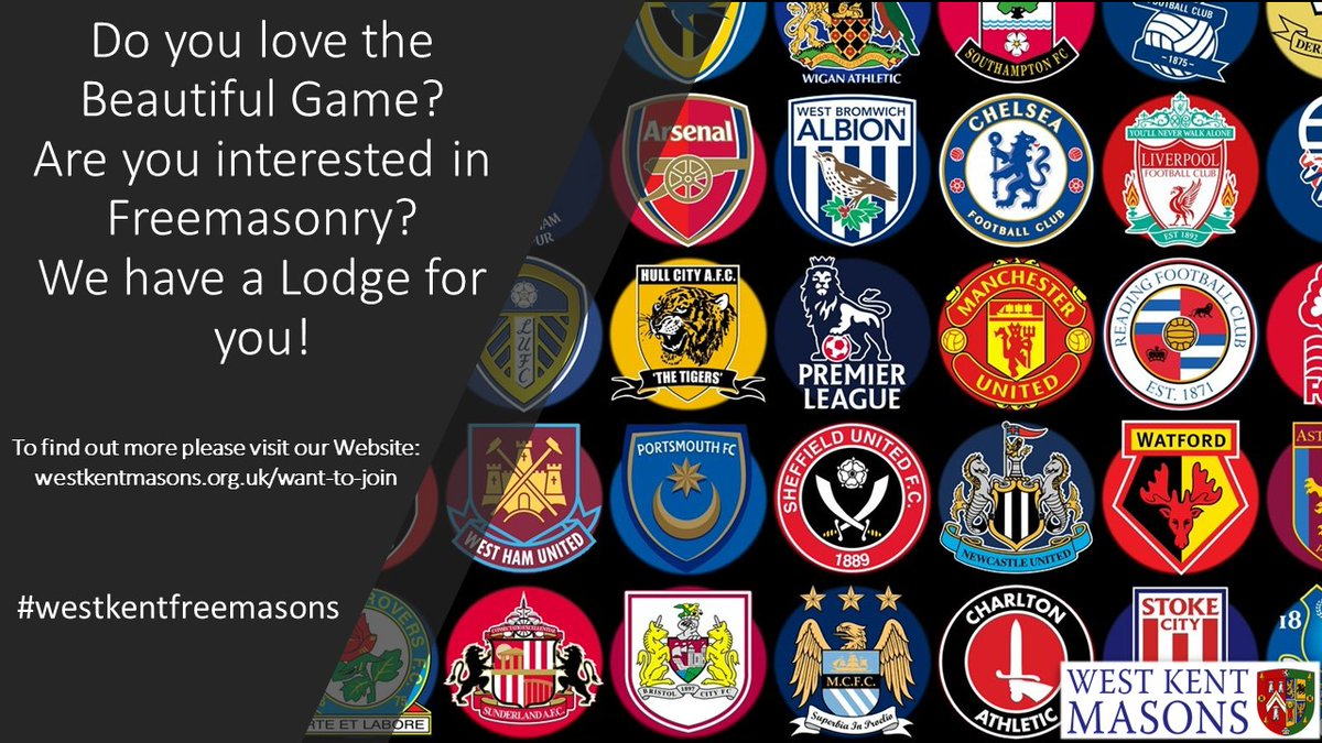 We have a number of themed Lodges, our latest is The West Kent Football Lodge.  #justask #westkentfreemasons #BeautifulGame #football https://t.co/5xnq8QYtfo