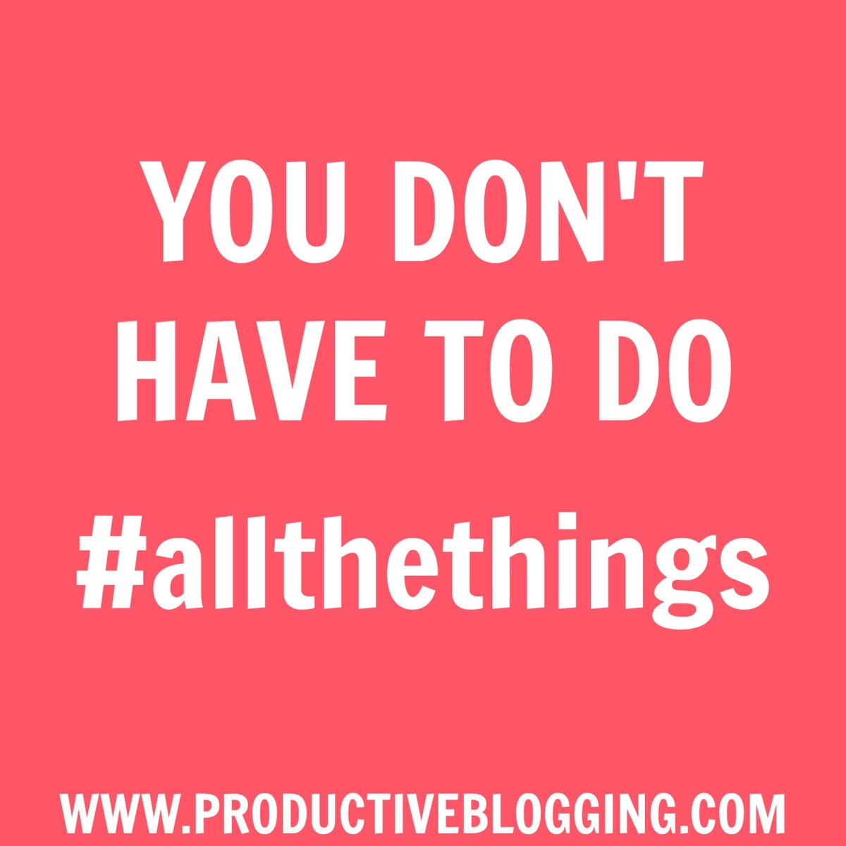 The simple fact is there is not enough time to do #allthethings. We have to get smart and focus on the things that will make the biggest difference, the things that will get us closer to our #blogginggoals  #timemanagement #productivity #productivitytips #productivityhacks https://t.co/Kn9KALCK43
