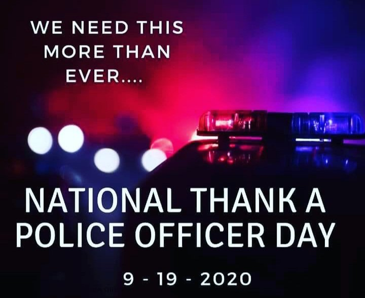 HAPPY SATURDAY 🌞   REMEMBER TO THANK A  POLICE OFFICERS TODAY!!  YOU'LL NEVER KNOW HOW MUCH TWO SMALL KIND WORDS CAN MAKE A BIG DIFFERENCE IN SOMEONE'S LIFE https://t.co/8eYsux8ls5