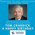 Image for the Tweet beginning: Happy birthday to Rep Tom