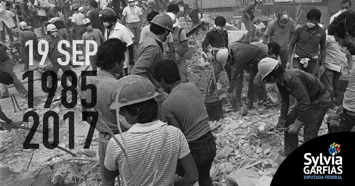 Los sismos del 19 de septiembre de 1985 y 2017 son tragedias que recuerdan la tristeza, pero también la forma en que todas y todos fuimos ejemplo de ayuda y solidaridad espontánea. https://t.co/CefhwnODdP