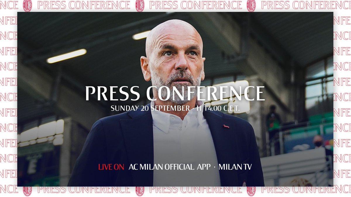 Calcio is back, on Monday we face Bologna and tomorrow the Coach will be presenting the match, live on our App 🗣️  https://t.co/k2zluibzhx  La nostra #SerieATIM riparte lunedì: domani non perderti la conferenza del Mister, in diretta sulla nostra App 📲 #MilanBologna #SempreMilan https://t.co/VoPQ7GwOaa
