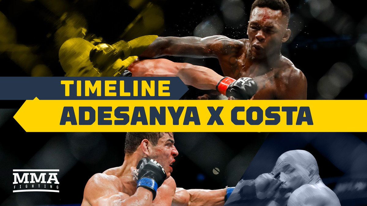 VIDEO: UFC 253 Timeline: Israel Adesanya vs. Paulo Costa (@allelbows, @ekc) #ufc253 https://t.co/yxMQ5Mebv7 https://t.co/QpEBvxp78u