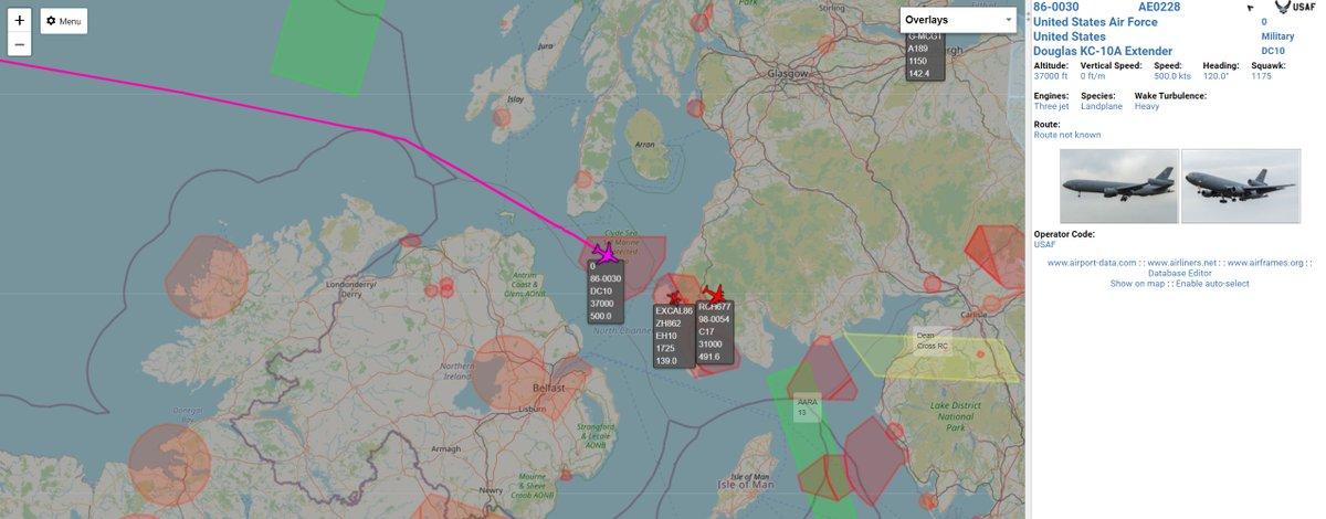 KC-10A Extender (86-0030) inbound UK, no callsign showing #AvGeek #aviation #potn https://t.co/GMjE3s99H6