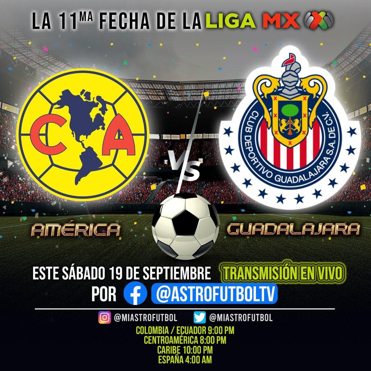Hoy nuevamente transmisión en vivo de @LigaBBVAMX @Chivas @ClubAmerica  #OhYeah  @pacheandrade @Kris_MoraCR @alexisnoticias @alejomunevar @DiarioExtraCR @footters @DeporteColumbia @multimedioscr @AmericanOutlet_ @NachitoTV @multimedioscr @albertlesan https://t.co/ILObp0e1Tp