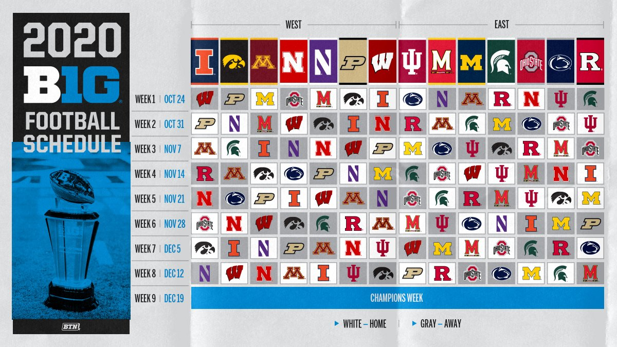 📅 🚨: The updated 2020 @B1Gfootball schedule is out.  First impressions? 👀 https://t.co/SzBlfki5F0